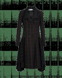 PROUD: Cappotto a quadri nero, verde e rosso con linea a gonna