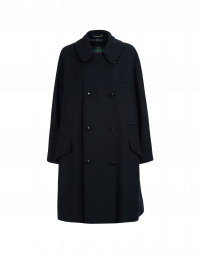 WUTHERING: Oversized pea coat navy wool