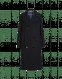 ORIGINATE: Cappotto doppiopetto oversize in lana navy