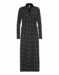 ALBANY: Long winter jersey check coat