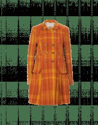 buy popular 61ceb 3fc3d PROVERB: Cappotto corto scozzese giallo e arancio