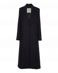 EXPERT: Long coat in black wool mix
