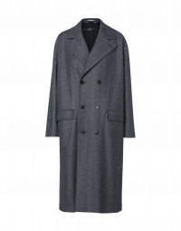 IN BALANCE: 3/4 overcoat in blue herringbone