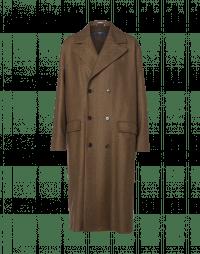 IN BALANCE: Cappotto spigato marrone