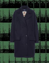 TUMULT: Cappotto doppiopetto in lana blu navy