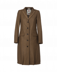 ACADEMIC: Brown and beige herringbone coat