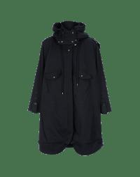 QUIRKY: Parka blu navy con tasche multiple in misto lana