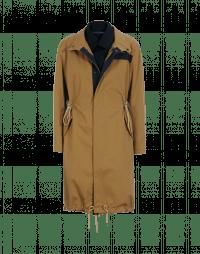TORMENT: Cappotto con doppio fronte marrone e blu navy