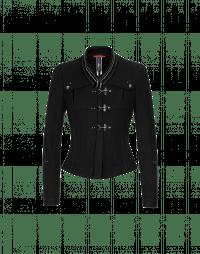 TIP-OFF: Giacca in lana nera con colletto in velluto ricamato