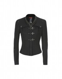 MAJORETTE: Black tailored velvet collar jacket