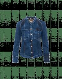COAX: Jeans jacket in shadow blue denim