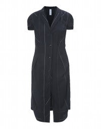 BIDDY: Virgin wool short sleeve overcoat