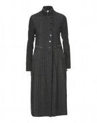 BOULEVARD: Herringbone stripe overcoat