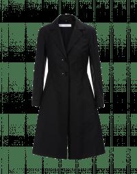 ENLIGHTEN: Black cotton Princess line coat
