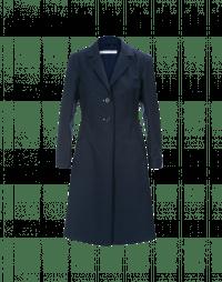 ENLIGHTEN: Cappotto in stile principessa blu navy