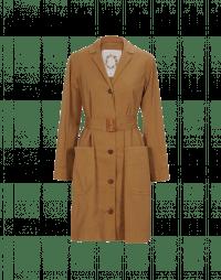 DAUNT: Cappotto in drill di cotone marrone