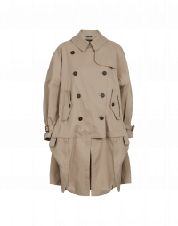 WINDWARD: Trench oversize con pannelli ripresi