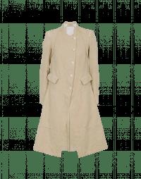 WORTHY: Cappotto estivo damascato color crema