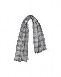 BORA: Grey, black and white checked wrap
