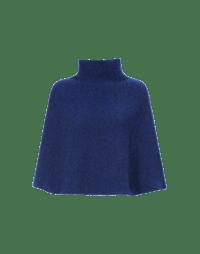 HOTSPOT: Ultra-soft high neck shoulder cape in blue melange