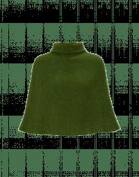 HOTSPOT: Poncho morbido a collo alto color verde muschio