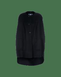 BRAVO: Navy cashmere mix cape