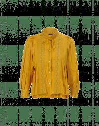 MEMORY: Camicia in rayon zafferano con pizzo