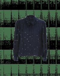 SERENITY: Camicia con collo alto e fiocco frontale