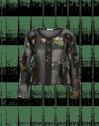 WONDER: Top ampio in cotone misto seta con stampa floreale