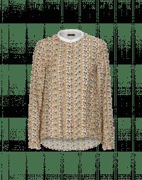 COMBO: Camicia con micro pattern floreale e colletto bianco