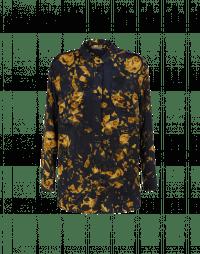 TACTFUL: Camicia navy in stile militare con stampa camo-floreale dorata