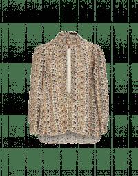 GLIMPSE: Camicia con micro pattern floreale, pizzo e balza