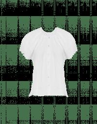 YELP: Weiße Bluse mit Stickerei und Flügelärmel