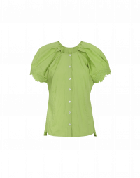 YELP: Cap sleeve shirt with embroidery