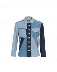 PROVOKE: Camicia in patchwork di denim e chambray