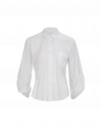 DEPEND: White cotton shirt with soft round collar