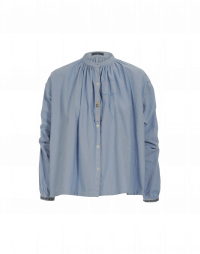 CHEEKY: Stand collar shirt in pale blue cotton