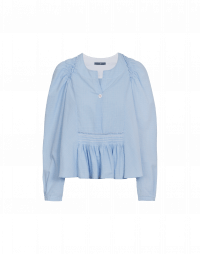 AMICABLE: Full flare-out shirt with pintuck front