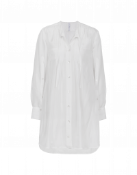 JOIN UP: Camicia lunga in seta bianca