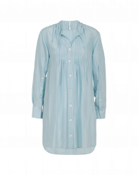 JOIN UP: Camicia lunga in seta azzurra