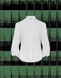 POLITELY: Camicia bianca in popelin di cotone con maniche a 3/4