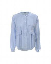 ETHOS: Bluse aus Baumwolle mit Stickerei