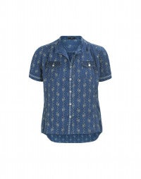 PERT: Edelweiss print short sleeve shirt