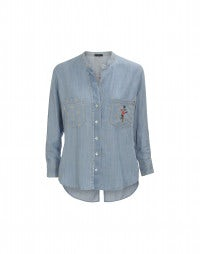 SPRIG: Sun bleach lyocell denim shirt