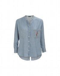 SPRIG: Camicia in lyocell effetto denim
