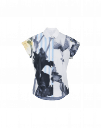 MAYFLOWER: Cap sleeve shirt in oversized floral