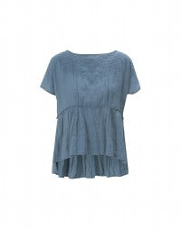 MIDSUMMER: China blue gathered and flared top