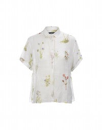 LAWN: Wildflower print easy shirt