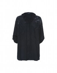 TRACE: Ghost laser print cupro over blouse