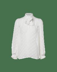 TIED UP: Camicia in fil coupé a pois con collo annodabile